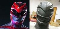 adult power ranger costume - Movie Power Rangers Red Helmet Mighty Costume Mask Replica Aniki Cosplay Costume Props Halloween Adult