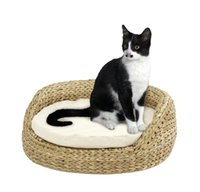 Wholesale cozy natural banana leaf scratching tree pet product cat toy cat tree cat furniture