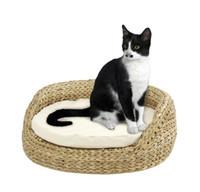 banana furniture - cozy natural banana leaf scratching tree pet product cat toy cat tree cat furniture