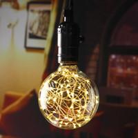 bar globe - led bulb christmas string lights v v filament bulb g95 holiday lights christmas decor for Christmas Indoor Party Cafes Bars Decoration