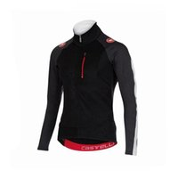 Wholesale Cast Long Sleeve Cycling Tops Bicycle Clothing Autumn None Fleece Winter Thermal Men Bicycle Jerseyes Black Red XS XL