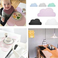 Wholesale 47 cm Kids Cloud Tiny Diner Placemat Baby Table Mat Decoration Heat insulated Waterproof Tableware Silicone Plate Mat CCA5103