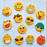 Wholesale Cartoon Emoji Fridge Magnets Cute Smile Face Whiteboard Magnet Fashion Note Message Holder Sticker