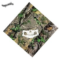 Wholesale Outdoor Airsoft Paintball Shooting Nature Pattern Tactical Airsoft Hunitng Skull Mask Bionic Camouflage Printing Square Scarf