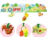 baby crib mirror - 5pcs Funny Baby Mobile Cloth Book Multifunctional Animal Soft Bed Crib Around with safety mirror teether toy