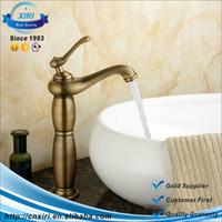 Ceramic antique porcelain basin - TOP Sales Antique Solid Brass faucets Bathroom Sink Basin Faucet Porcelain Mixer Tap Single Handle Faucet FG055