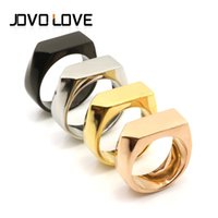 african nuts - High Quality Jewelry New Arrival Original Stainless Steel Nuts Ring Geometric Finger Rings Geometry Unique Jewelry