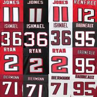 Wholesale Jonathan Babineaux Jersey Kemal Ishmael Kroy Biermann Matt Ryan Julio Jones Sean Renfree American Football Jerseys Elite Sport