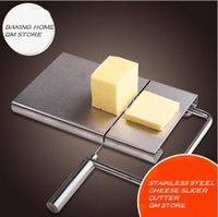Wholesale Cheese Slicer Cutter Board Stainless Steel Wire Butter Cutting Knife Kitchen Hand tool Baking Cooking