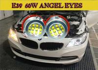 al por mayor luz antiniebla bmw e39-2016 El NUEVO 2-pair 40W llevó los ojos del ángel del marcador para el bmw E39 E39 E60 E63 E65 E53 X3 ange la lámpara de la niebla de los ojos