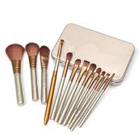 angle kit - New Makeup set kits Brushes Tools Powder Eyeshadow Large Medium Eyebrow Small Lip Eyeliner Eyelid Angled Contour Brushe sets