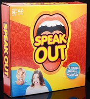 Wholesale 2016 Speak Out Game KTV party game cards for Funny Mouthpiece Family Party Christmas gift newest best selling toy A106