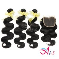 Wholesale Grade A inches Brazilian Peruvian Body Wave Bundles Hair Extensions Natural B Body Wave Middle Free Lace Closure Human Hair