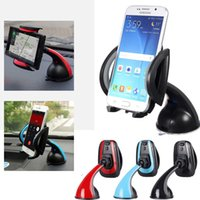 Wholesale Universal Mobile Phone PDA Car Interior Windscreen Suction Mount Holder Cradle Stand Red Blue Gray optional CDE_30L