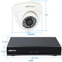 Wholesale KKMOON CH Full AHD N P DVR Set T HDD TVL CCTV Security Camera System HDMI Onvif DVR Recorder Indoor IR Dome Camera
