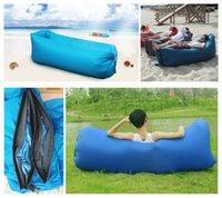Wholesale Fast Inflatable Beach Sofa Outdoor Air Sofa High Quality Inflatable Sleeping Bed Second Quick Open Nylon Air Sofa