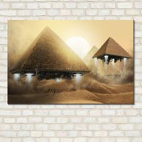 Wholesale Pyramid Canvas Painting Pictures Wall Art Pictures On The Wall NO Frame Home Decor Picture Canvas Poster