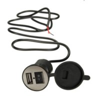 Wholesale 2016 New DC V Motorbike Motorcycle Cigarette Lighter Power Plug Socket USB Car Charger Cheap charger for dell notebook