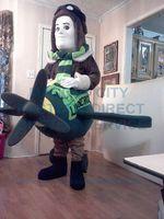 aviator custom - Aviator Plane Mascot Costume Anime Cosply Costume Custom Xmas Halloween Birthday Party Carnival Mascotte Fancy Dress Kits