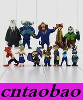 Wholesale 12Pcs Set cm Movie Zootopia Animal Figure Toys Nick Fox Judy Rabbit PVC Figures Dolls