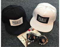 baseball activities - NEW Fashion Black White Pigalle GEM Snapback Baseball Cap For Men Women outdoor activity hats