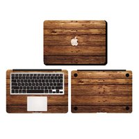 apple tree decal - Old Oak Tree Wood Planks Texture Vinyl Full Body Cover Laptop Decal Skins For Apple Macbook Air Pro Retina inch Protective Stickers