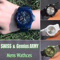 al por mayor reloj del ejército suizo deporte militar-2016 Relojes militares para hombre de lujo nuevos de las llegadas suizas Reloj Nylon del DEPORTE del movimiento SPORT del cuarzo de la correa de la insignia del EJÉRCITO de Gemius para los HOMBRES