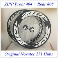 zipp - Best Match Front Zipp Rear Zipp Carbon Wheels Clincher Tubular White Decal k Wave Novatec Hubs Glossy Matt Finish