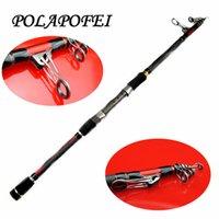 abu garcia lures - 2 m m Carbon Fishing Spinning rod pod lure telescopic pole feeder casting baitcasting rod fit abu garcia daiwa reel olta F