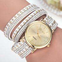 al por mayor reloj de las mujeres de cristal de múltiples-Para ver los relojes de las mujeres capa de cristal multi de cuero del cuarzo relojes de señora relojes de moda