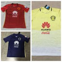 2016-17 México Club America Soccer Jersey jerseys de la calidad de Tailandia de fútbol rojo del oro azul del fútbol camisas Personalizar Camisetas de fútbol para hombres