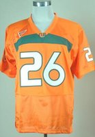 Wholesale New College Football Jerseys Miami Jersey Orange And Green Color Size M XXXL Stitched Mix And Match Order Hot American Football Jerseys