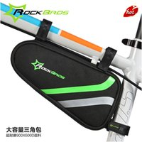 Wholesale ROCKBROS Bicycle package triangle package beam package a mountain country vehicle Front package saddle Bag tube package Tool kit B BK