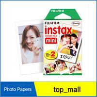 Wholesale Hot sale Fuji Fujifilm Instax Mini film cameras for Instant Camera s s Polaroid sheets sheets White Edge Photo Papers
