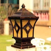 Wholesale European retro modern garden lamp landscape lighting outdoor waterproof gate pillar wall lamp headlamp column lamp lamp commercial lighting
