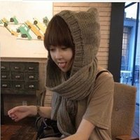 Wholesale 2016 new Special Korean Women winter scarf lovely double thick wool scarves hat