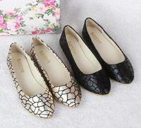 ballet shoe pattern - New vintage women flats fashion crack pattern ballet flats pointed toe flat shoes woman casual women shoes