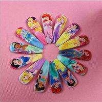 ariel hair clip - princess hairpins Elsa anna Snow white girls Barrettes sofia Cinderella Ariel Mermaid Jasmine hair clips accessories bobby pin hot