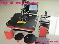 Wholesale Advanced In New Design Heat Transfer Machine Sublimation machine Combo Heat Press Machine Plate Mug Cap T Shirt Heat Press