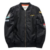 air force one flight jacket - New Brand Autumn Air Force One Men s Casual American Flight Jackets Men s Plus Size Coats MA1 Male Fashion Sports Outwear