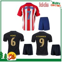 atletico madrid kit - 16 Madrid Kids boy kit Jersey GRIEZMANN home away F TORRES childrens football shirt soccer Atletico