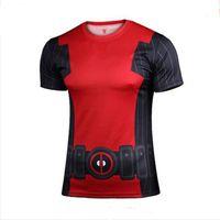 armor shorts - Mens t shirts fashion superhero batman avengers captain America men T shirt on armor under short sleeve T shirt