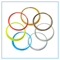 Wholesale DIY D Printer ABS Filament M Colors MM Colorful D Drawing Pen Filament Plastic Rubber Consumables D Printer Pen Filament