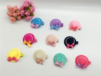 bb beads - C Fashion Cute Cap with Bow Beads Infant Hairpins Princess Solid BB Girls Hair Clips Hair Accessories