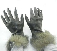 gants à main en caoutchouc achat en gros de-Halloween Rubber Wolf Paw Gloves Party Animal Cosplay Props Masquerade Party Mask mardi gras costume film prop animaux mains