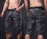 Wholesale Tactical Outdoor Hunting Camouflage Capri Pants Men Cotton Polyester Cropped Quick Dry Trousers Fashion Casual Camping Pants