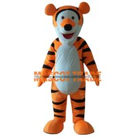 Wholesale Orange Tigger Mascot Costumes Adult Tigger Clothing Character Costume