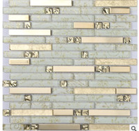 Wholesale Modern Chinese style puzzle living room TV background wall ceramic tile D solid crystal glass mosaic tiles D A