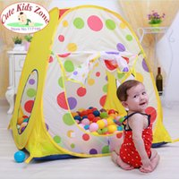 Wholesale Child baby gift promotion kids play tent children baby beach tent play house spot indoor outdoor children tent ZP2002