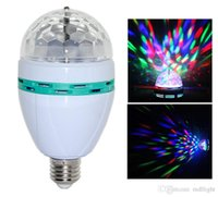 ball shows - Digital E27 W LED Stage Light Disco DJ Colorful LED Laser Rotating Stage Crystal Ball for Disco Party SHOW Effect Stage Light